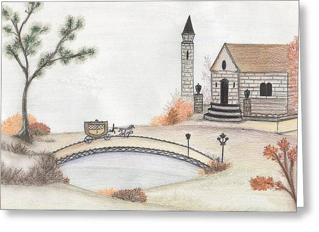 Autumn Countryside   Greeting Card by Christine Corretti