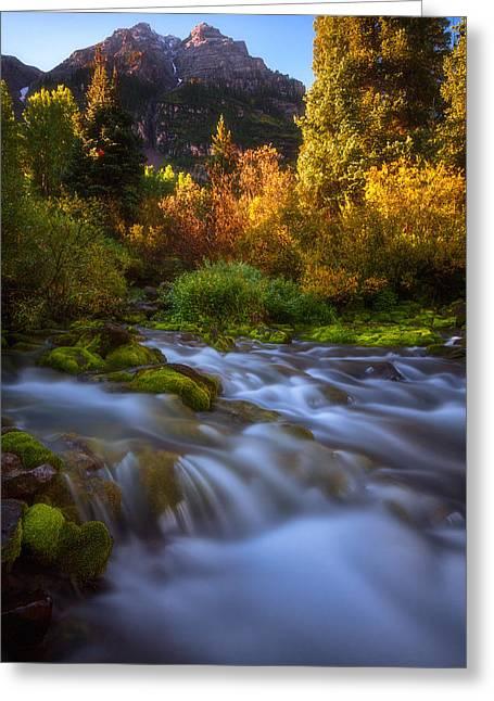 Autumn Creek Greeting Card by Darren  White
