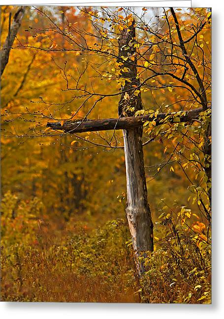 Autumn Cross Greeting Card