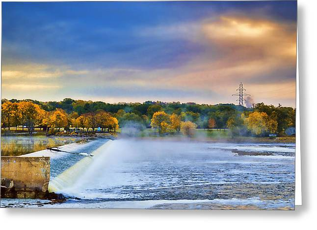 Autumn Dam Greeting Card by Troy Schopp