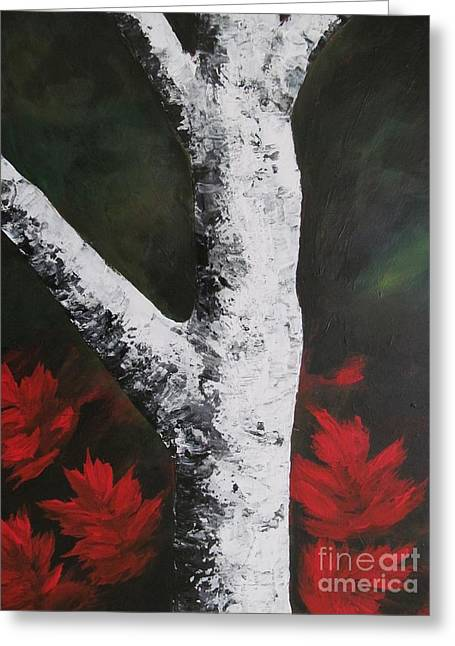 Autumn Dance Greeting Card by Beverly Livingstone