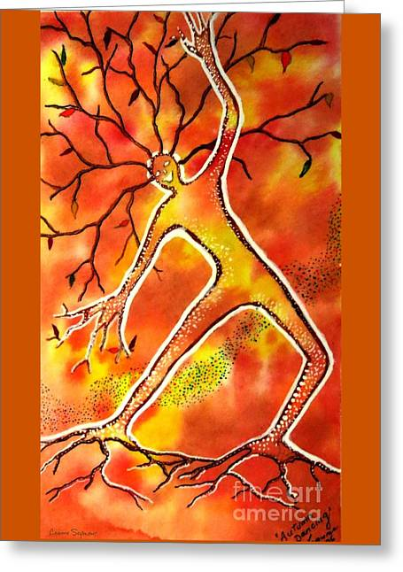 Autumn Dancing Greeting Card