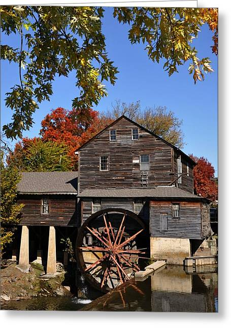 Autumn Day At The Old Mill Greeting Card by John Saunders