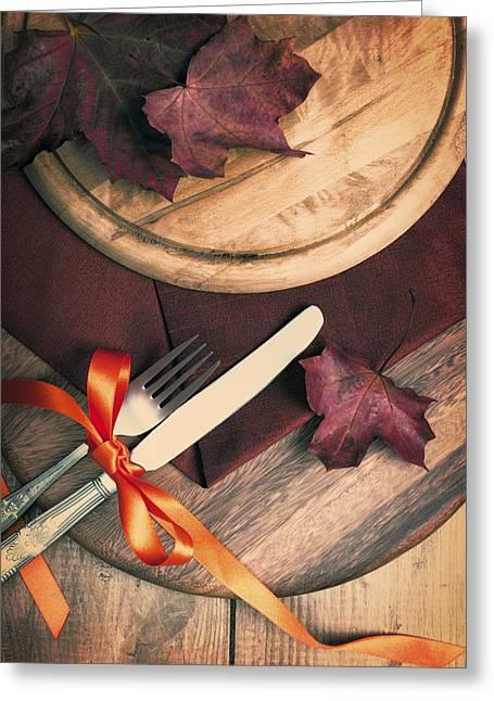 Autumn Dining Greeting Card