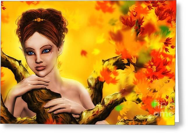 Autumn Elf Princess Greeting Card