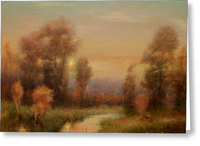 Autumn Evening Glow Greeting Card