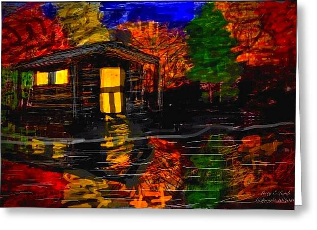 Autumn Evening Greeting Card by Larry E  Lamb