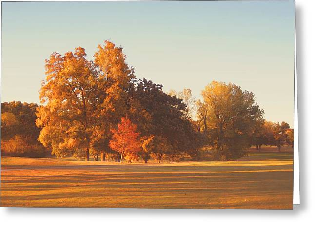 Autumn Evening On The Golf Course Greeting Card