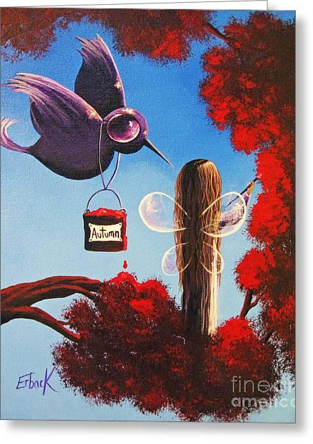 Autumn Fairy By Shawna Erback Greeting Card by Shawna Erback