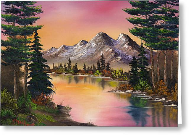 Mountain Fantasy Greeting Card by C Steele