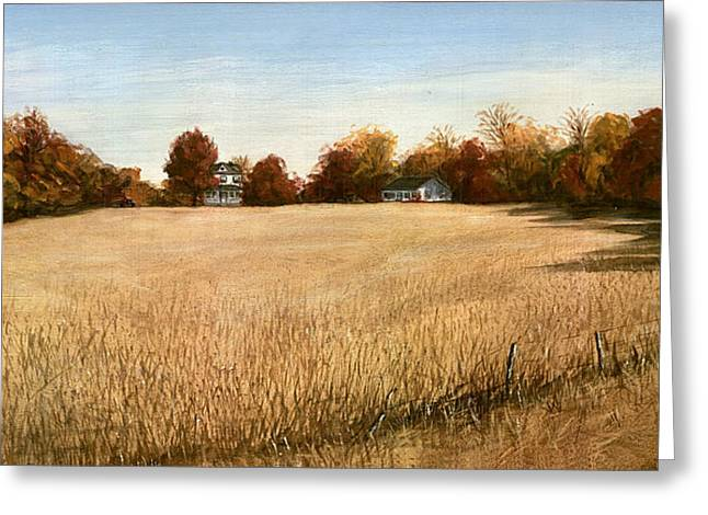 Autumn Field Southern Maryland Greeting Card