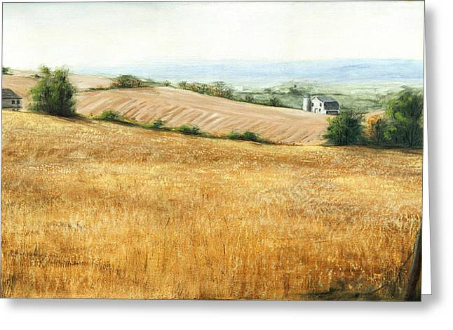 Autumn Fields Maryland Rt40 West Greeting Card by G Linsenmayer