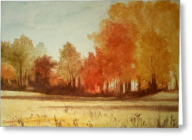 Autumn Fields New Jersey Greeting Card