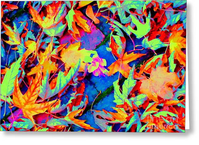 Autumn Fiesta Greeting Card by Ann Johndro-Collins