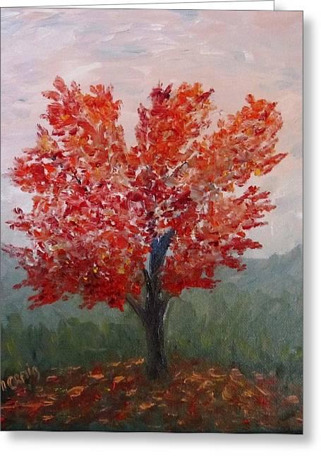 Autumn Fire Greeting Card by Nancy Craig