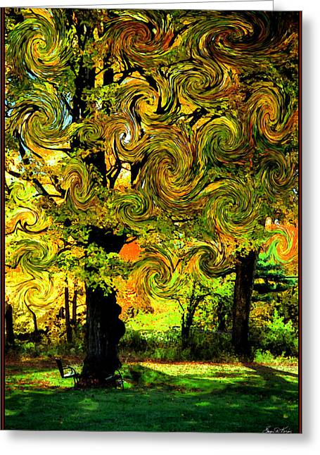 Autumn Firestorm Greeting Card