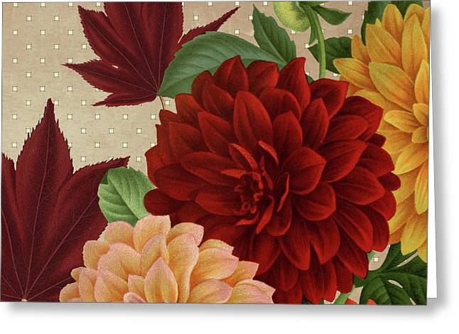 Autumn Flare Square 1 Greeting Card by Gail Fraser