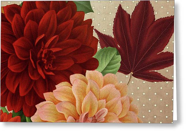 Autumn Flare Square 2 Greeting Card by Gail Fraser