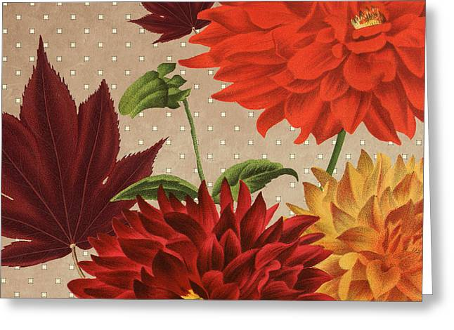 Autumn Flare Square 3 Greeting Card by Gail Fraser