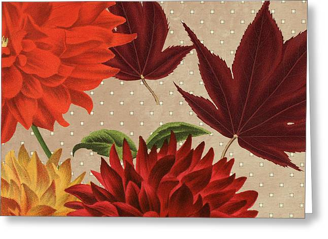 Autumn Flare Square 4 Greeting Card by Gail Fraser