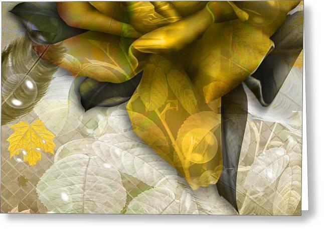Greeting Card featuring the digital art Autumn Flower by Eleni Mac Synodinos