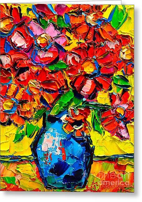 Autumn Flowers 7 Greeting Card by Ana Maria Edulescu