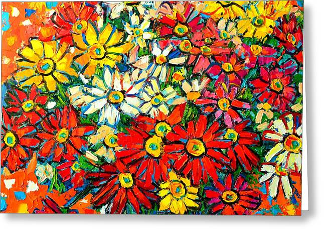 Autumn Flowers Colorful Daisies  Greeting Card by Ana Maria Edulescu