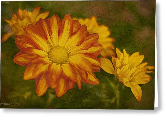 Autumn Flowers Greeting Card by Ivelina G