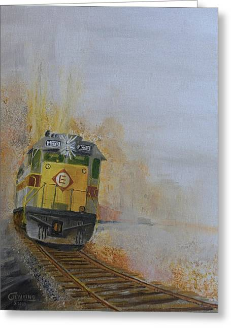 Autumn Fog Greeting Card by Christopher Jenkins