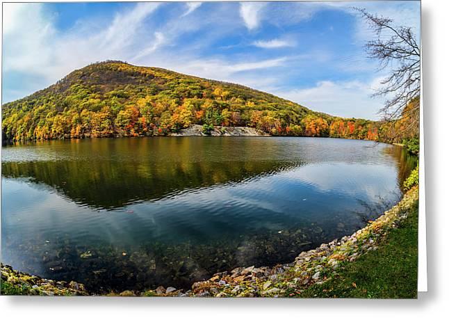 Autumn Foliage At Hessian Lake, Bear Greeting Card by F. M. Kearney