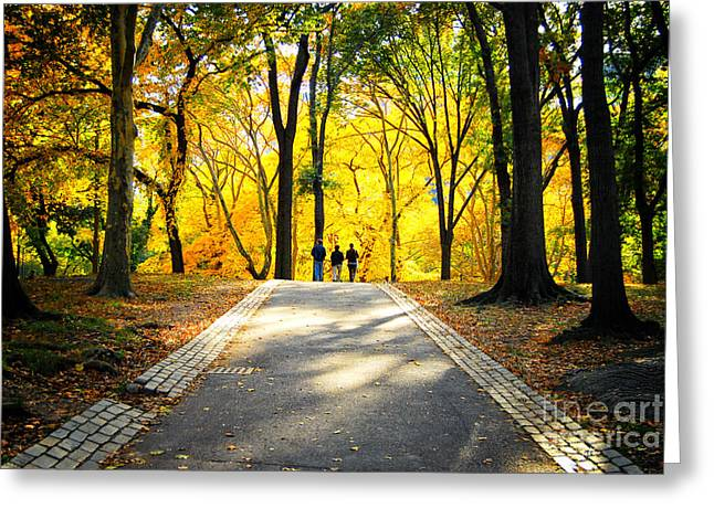 Autumn Foliage In Central Park New York City Greeting Card by Sabine Jacobs
