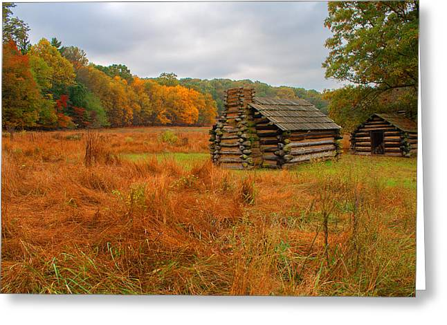 Autumn Foliage In Valley Forge Greeting Card