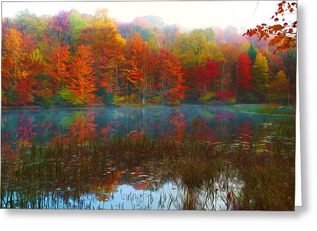 Autumn Foliage Greeting Card by Lanjee Chee