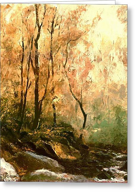 Autumn Forest Baltimore Maryland Greeting Card