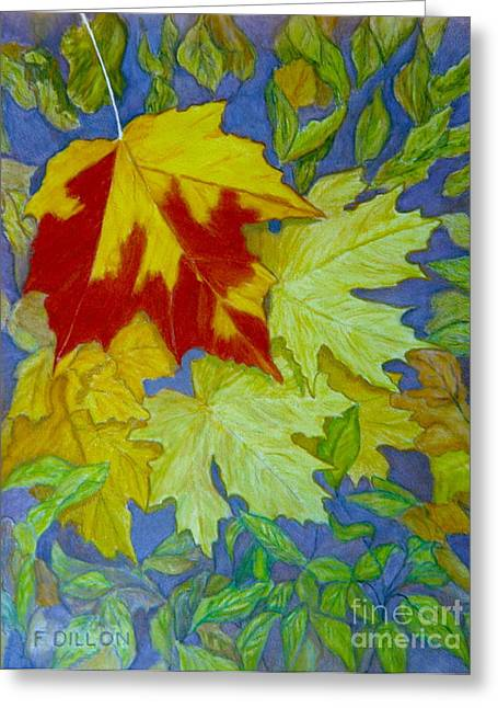 Autumn Greeting Card by Frances  Dillon