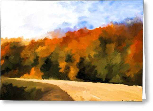 Autumn Fringe Greeting Card by Jo-Anne Gazo-McKim