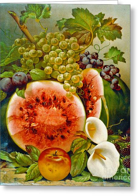 Autumn Fruits C1860 Greeting Card