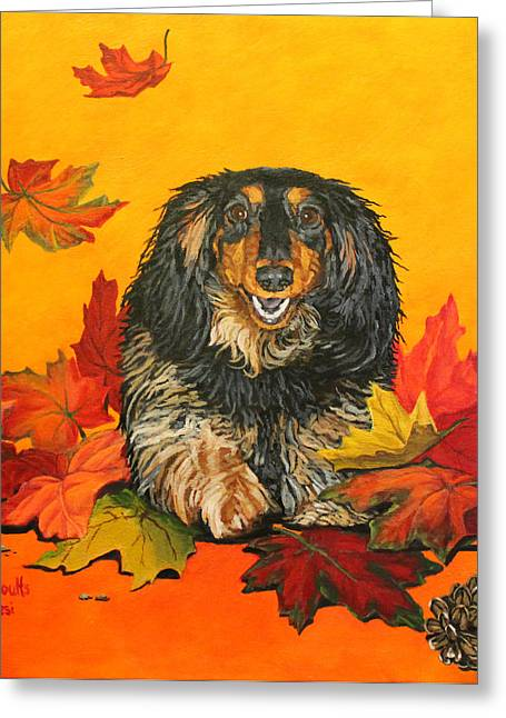 Autumn Fun Greeting Card by Wendy Shoults