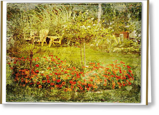 Autumn Garden Greeting Card by Dianne  Lacourciere