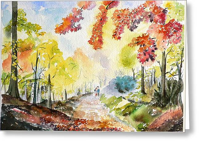 Autumn Greeting Card by Geeta Biswas