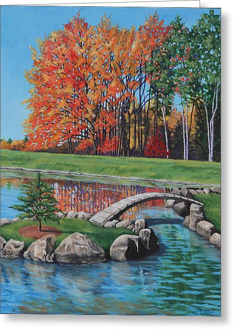 Autumn Glory At The Arboretum Greeting Card by Penny Birch-Williams