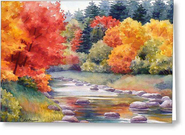 Autumn Glory Greeting Card by Janet  Zeh