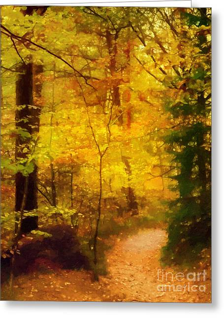 Autumn Glow Greeting Card by Lutz Baar