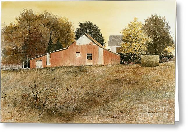 Autumn Glow Greeting Card by Monte Toon