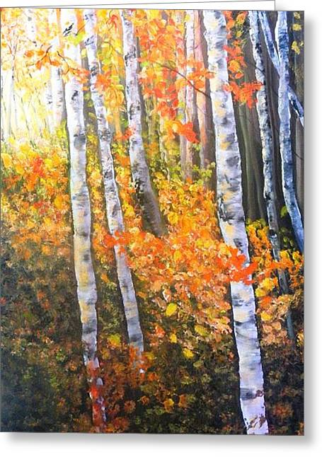 Autumn Glow Greeting Card by Patti Gordon