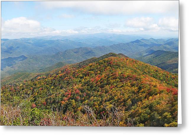 Autumn Great Smoky Mountains Greeting Card by Melinda Fawver