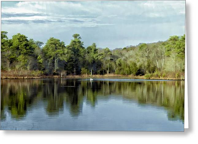 Greeting Card featuring the photograph Autumn Green Photo Art by Constantine Gregory