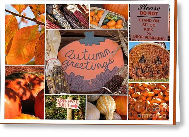 Autumn Greetings - 5 X 7 Greeting Card Greeting Card by Cheryl Hardt Art