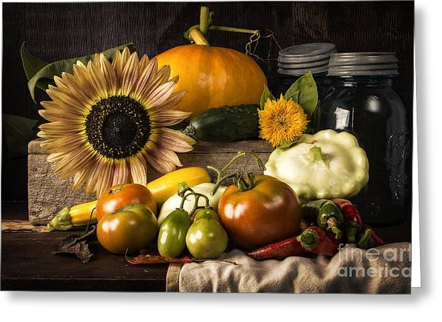 Autumn Harvest Greeting Card by Edward Fielding