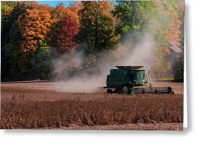 Autumn Harvest Greeting Card by Gene Sherrill